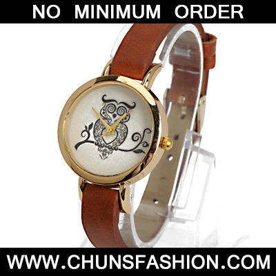 Coffee Owl Pattern Ladies Watch