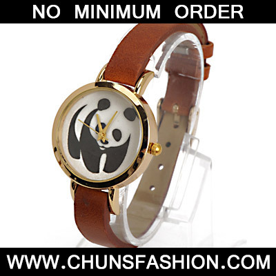 Coffee Panda Pattern Ladies Watch