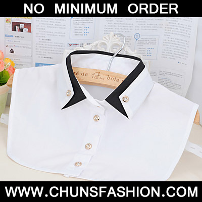 White Double Layer Collar Shirt Shape