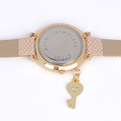 Pink Key Shape Ladies Watch