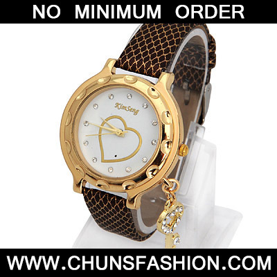 Coffee Key Shape Ladies Watch