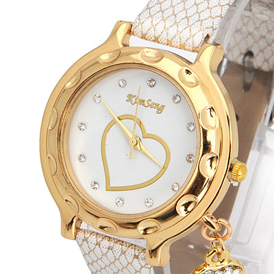 White Key Shape Ladies Watch