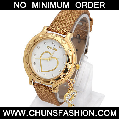 Gold Key Shape Ladies Watch