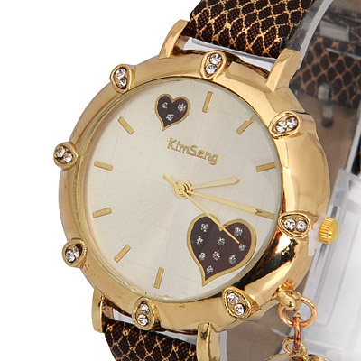 Coffee Moon Star Shape Ladies Watch - Click Image to Close