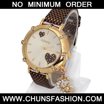Coffee Moon Star Shape Ladies Watch