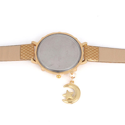 Gold Moon Star Shape Ladies Watch