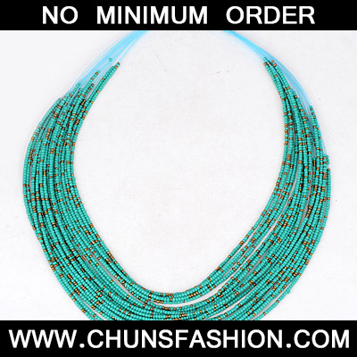 Green Beads Multilayer Necklace
