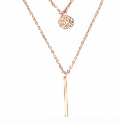 Gold Hollow Out Round Shape Necklace