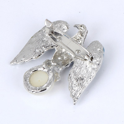 Blue Pearl Eagle Shape Brooche