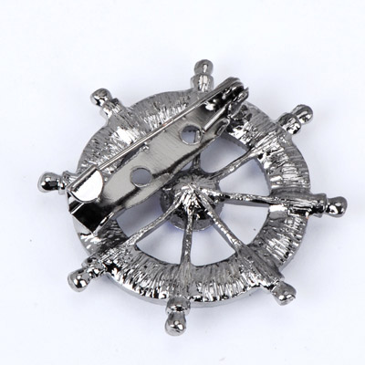 Blue Diamond Anchor Shape Brooche