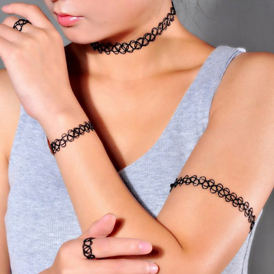 Black Weave Nylon Ring