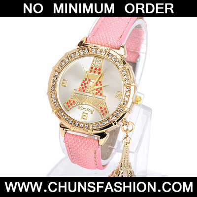 Pink Diamond Eiffel Tower Pattern Pu
