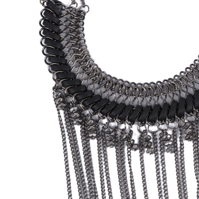 Waist Black Tassel Weave Necklace