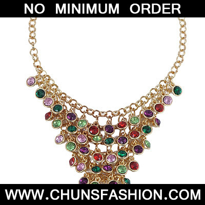 MultiDiamond Multilayer Necklace