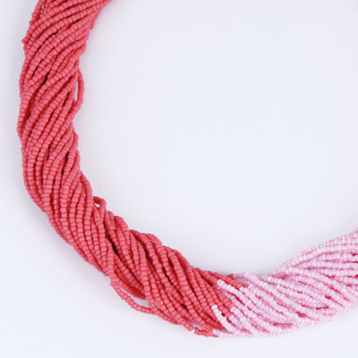 Pink & Watermelon Red Beads Weave