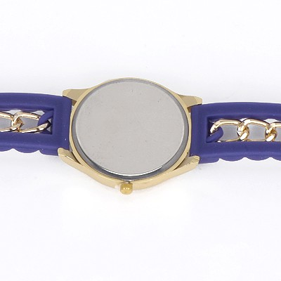 Purple Diamond Flag Pattern Ladies Watch