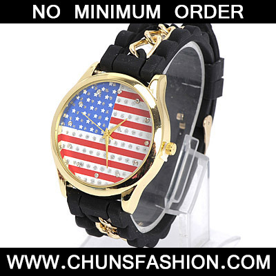 Black Diamond Flag Pattern Ladies Watch