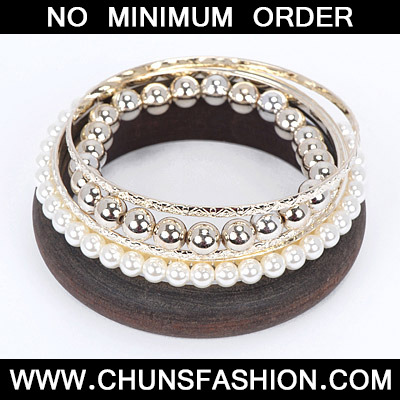 Brown Pearl Multilayer Bangle