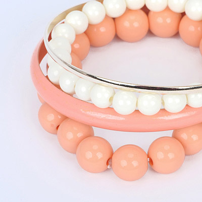 Pink Pearl Multilayer Bangle