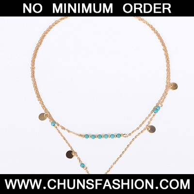Gold Beads Doulbe Layer Necklace