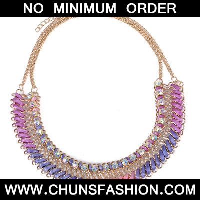 Purple Diamond Waeve Necklace