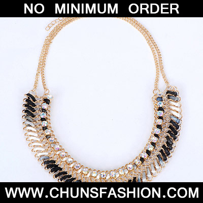 Black & White Diamond Waeve Necklace