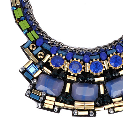 Dark Blue Weave Necklace