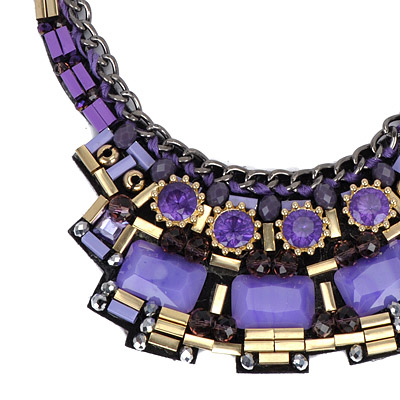 Purple Weave Necklace