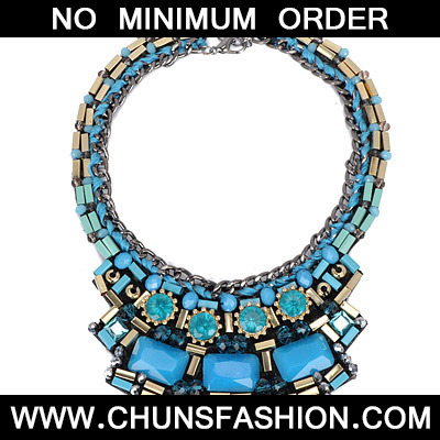 Blue Weave Necklace