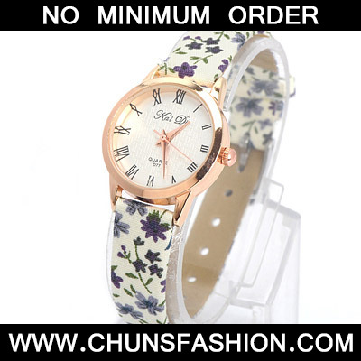 Purple Flower Pattern Electronic Elements Ladies