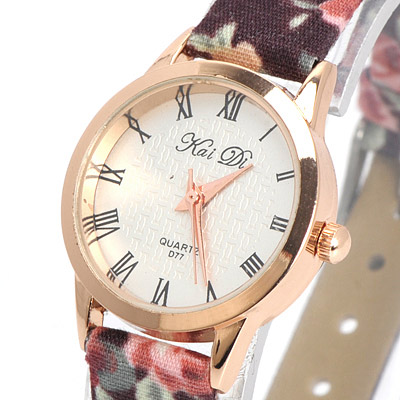 Coffee Flower Pattern Electronic Elements Ladies