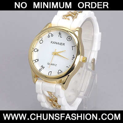 White Chain Electronic Elements Ladies Watch