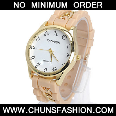 Apricot Chain Electronic Elements Ladies Watch