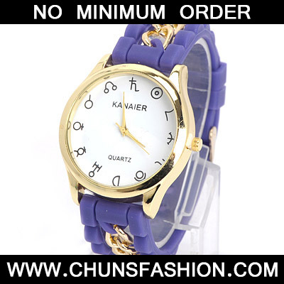 Purple Chain Electronic Elements Ladies Watch