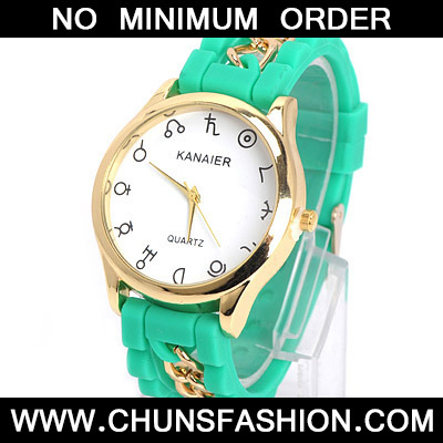 Green Chain Electronic Elements Ladies Watch