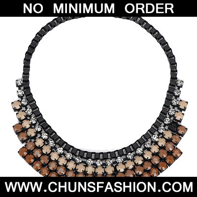Light Brown Diamond Multilayer Necklace