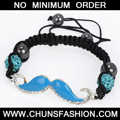 Blue Diamond Moustache Shape Bracele