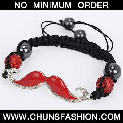 Red Diamond Moustache Shape Bracele