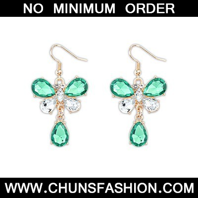 Green Butterfly Shape Earring