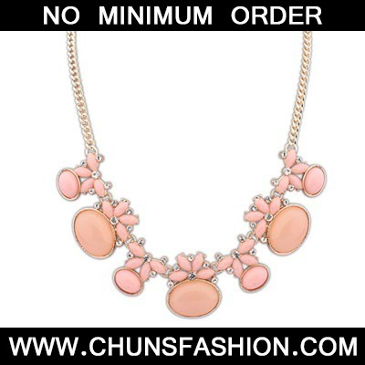Pink Geometric Shape Necklace