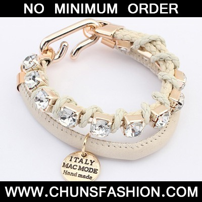 Beige Diamond Doubler Layer Bracele