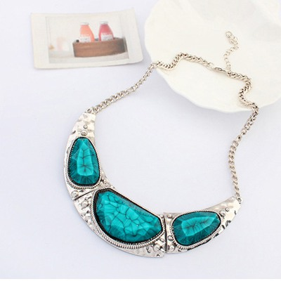 Blue Irregular Pendant Necklace