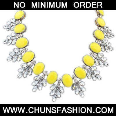 Yellow Oval Shape Necklace