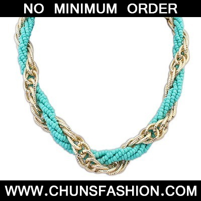Light Blue Weave Beads And Metal