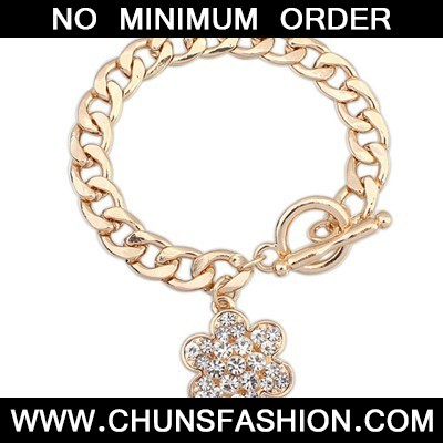 Gold Full Of Diamond Flower Bracele