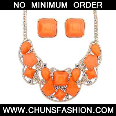 Orange Irregular Jewelry Set