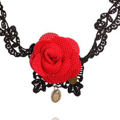 red flower lace Anklet