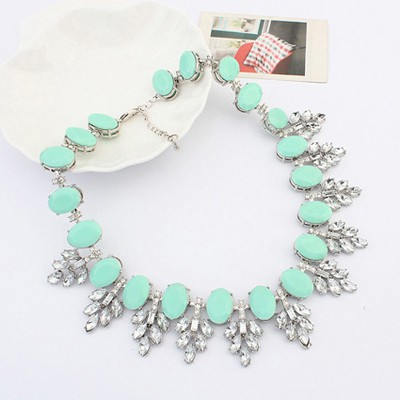 light blue acrylic stone sweet Jewelry Set