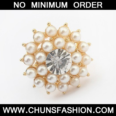 white double layer pearl Ring