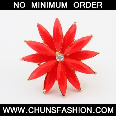 red flower shape Ring